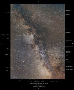 Annotated Central Milky Way Region